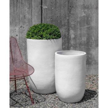 Cole White Extra Tall, Large Modern Glazed Ceramic Planters