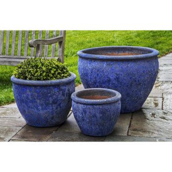 Kinsey Garden Decor ceramic Corfu Planter Blue