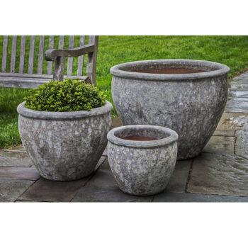 Kinsey Garden Decor ceramic Corfu Planter Grey