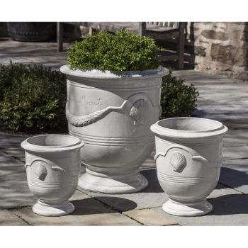 Kinsey Garden Decor ceramic Cote D'Azur Urns Cream