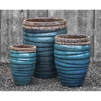 Superieur Guaracha Tall Large Ceramic Planters Beachcomber Aqua