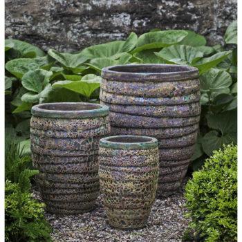 Guaracha Tall Large Ceramic Planters Angkor Green Mist