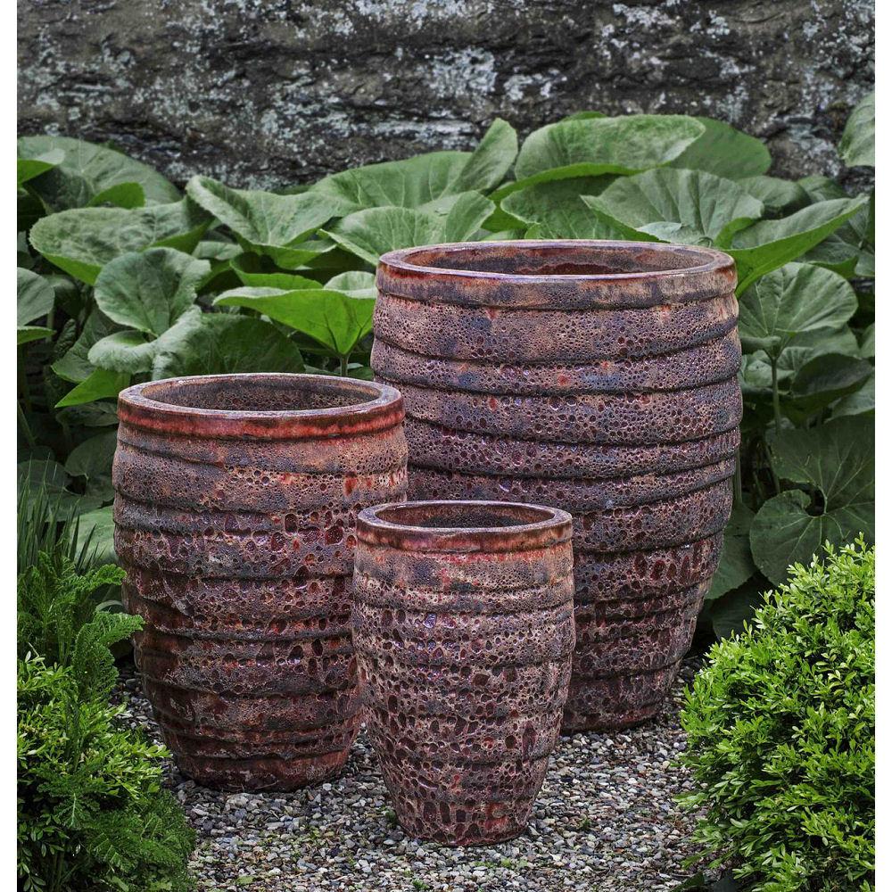 Guaracha Large Outdoor Ceramic Planters Red Kinsey Garden Decor