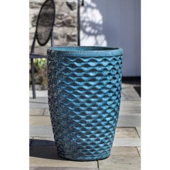 Honeycomb low profile ceramic planters aqua kinsey garden decor honeycomb large outdoor ceramic planters aqua workwithnaturefo