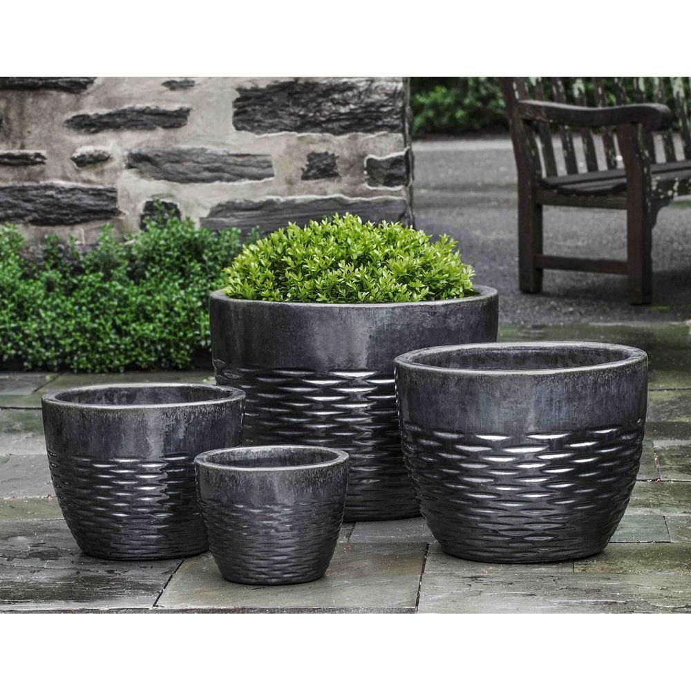 Hyphen Ice Black Ceramic Pottery Planters