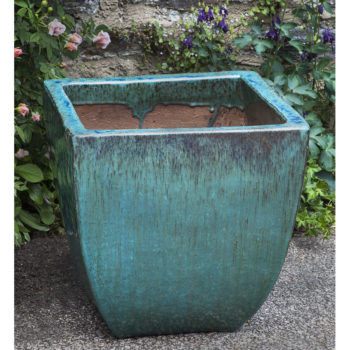 Mika Square Ceramic Garden Planters Weathered Copper