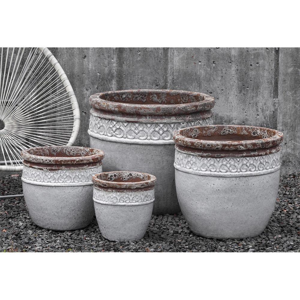 Large Ceramic Montserrat Planter White | Kinsey Garden Decor