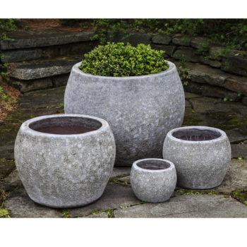 Indoor Outdoor Ceramic Low Planters Grey Kinsey Garden Decor on grey pendant lights, grey lanterns, grey kitchen decor, grey cushions, grey walls, grey trellis, grey christmas decorations, grey marble flooring,
