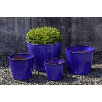 Kinsey Garden Decor Portale Planter Riviera Blue