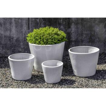 Hancock Cube Modern Ceramic Planter White | Kinsey Garden Decor