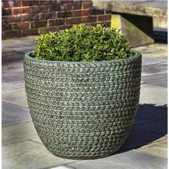 Tall Sisal Weave Planter Seafoam Green Kinsey Garden Decor
