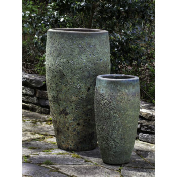 Ta Som Tall Ceramic Outdoor Planters Angkor Green Mist