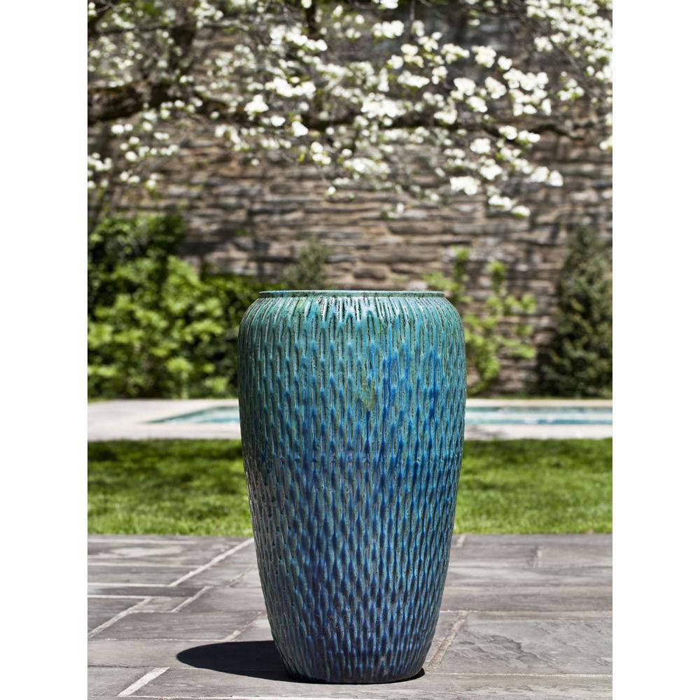 Palisades Ceramic Planters Weathered Copper Kinsey Garden Decor
