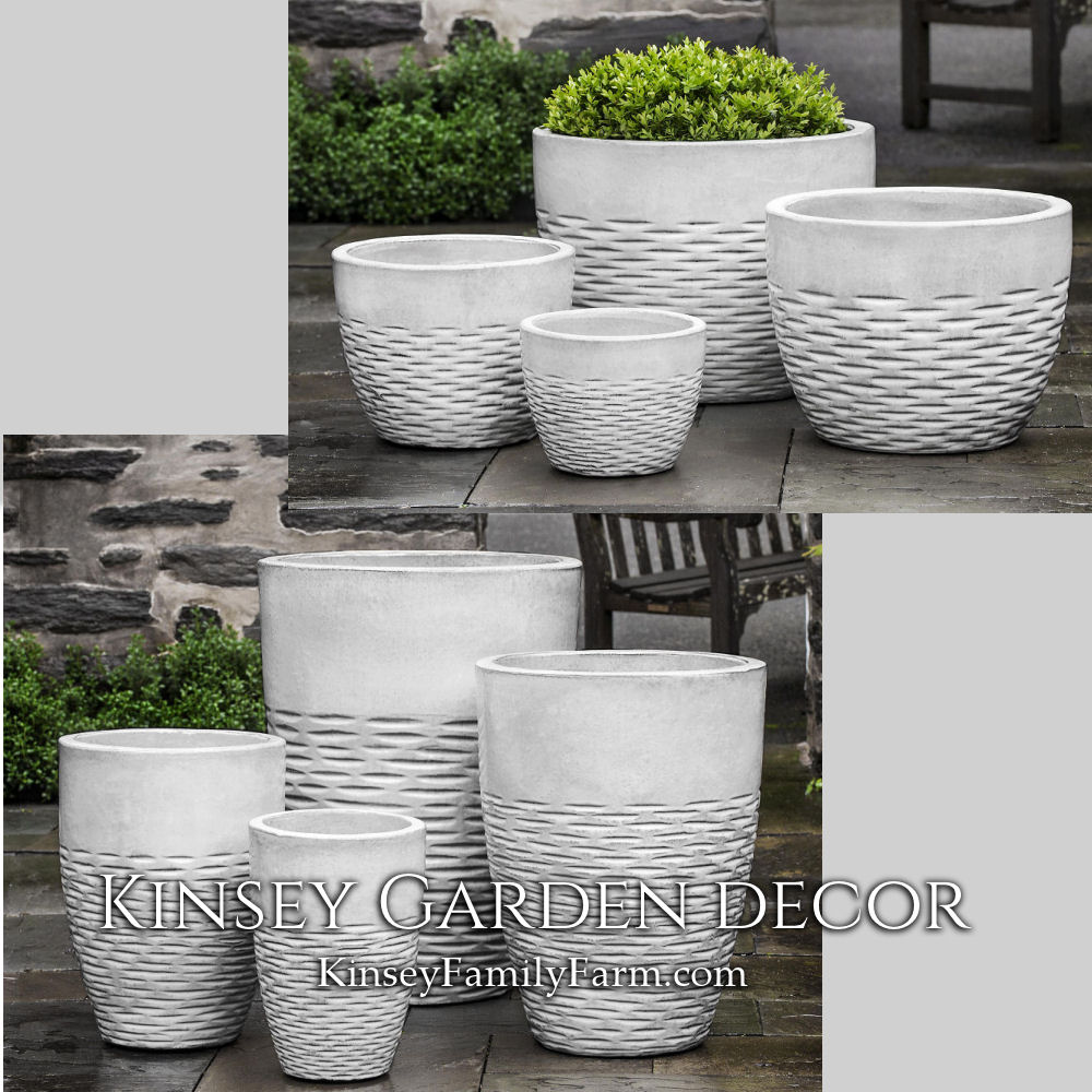 Hyphen Large Ceramic Planters Snow White