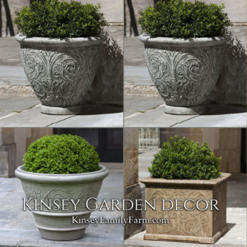 Kinsey Garden Decor Arabesque planters set