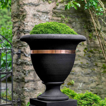 Kinsey Garden Decor Classic-Copper Banded Urn Large