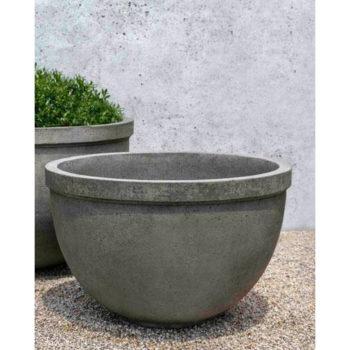 Tribeca Planter Large Cast Stone Deep Bowl Kinsey Garden Decor