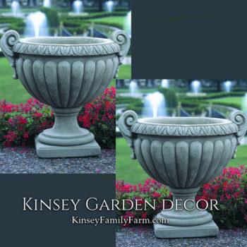 Kinsey Garden Decor Longwood Volute Handle Urns