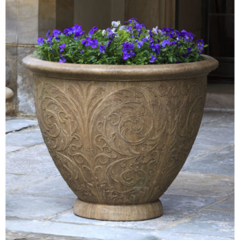 Kinsey Garden Decor Arabesque Round Planter
