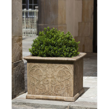 Kinsey Garden Decor Square Arabesque Planter