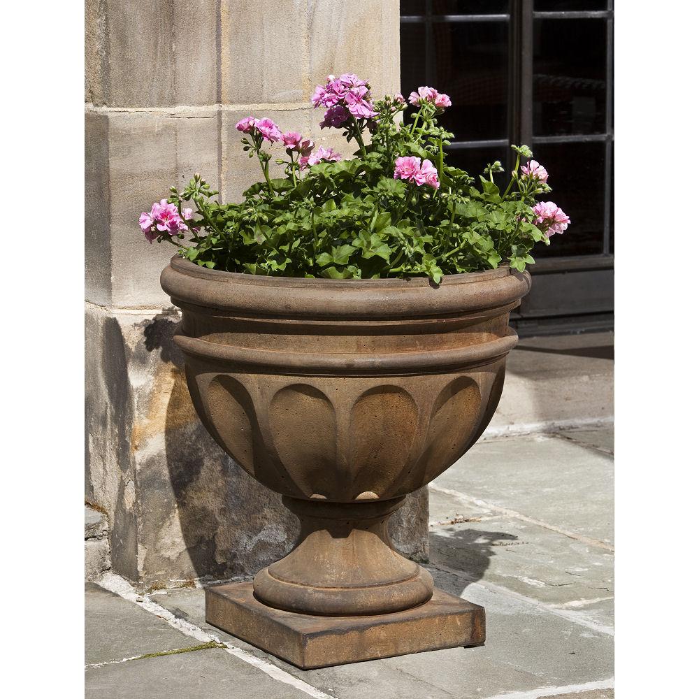Augusta Outdoor Cast Stone Urn Planter Kinsey Garden Decor