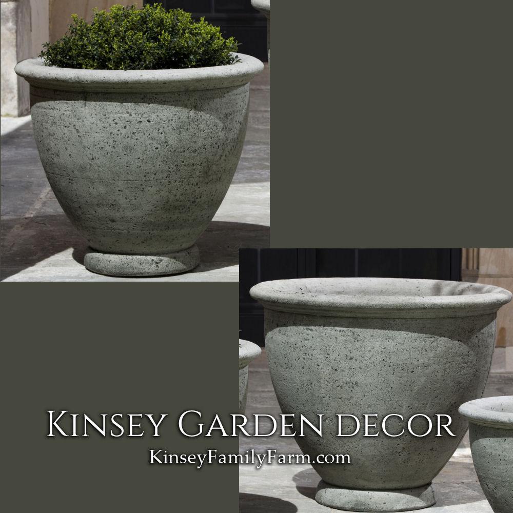 Large Cast Stone Berkeley Outdoor Planters | Kinsey Garden Decor