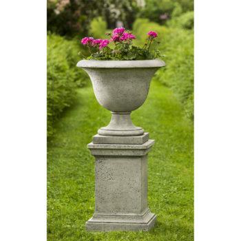 Fairfield Urn Cast Stone Planter Pot Kinsey Garden Decor