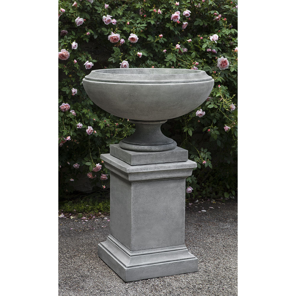 Jensen On Pedestal Large Low Bowl Urn Planter Kinsey