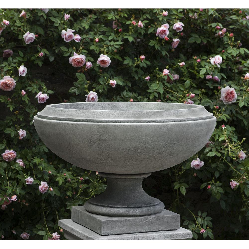 Jensen On Pedestal Large Low Bowl Urn Planter