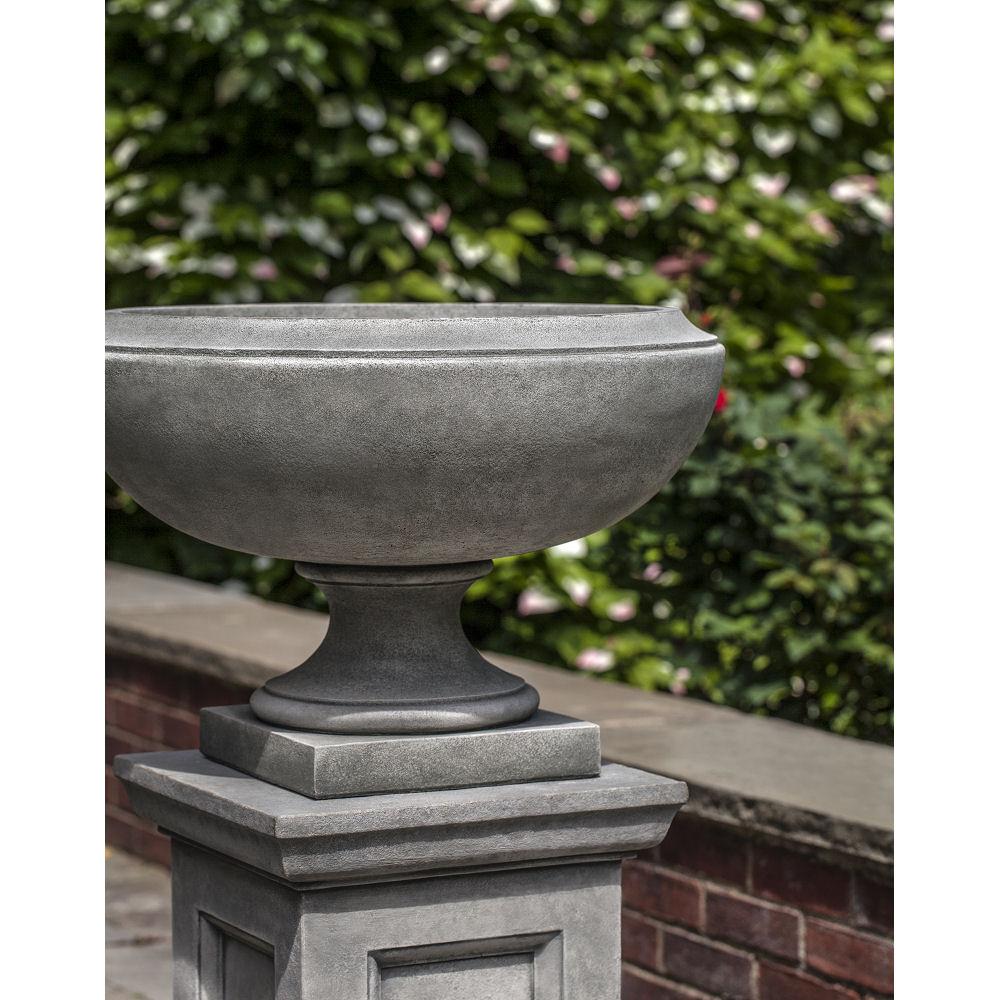 Jensen Urn on Pedestal Wide Bowl Planters | Kinsey Garden Decor