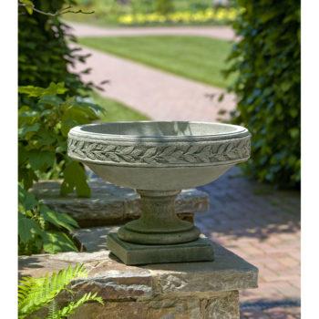 Kinsey Garden Decor Laurel Banded Urn