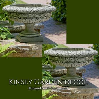 Kinsey Garden Decor Planter Longwood Rosette Urn