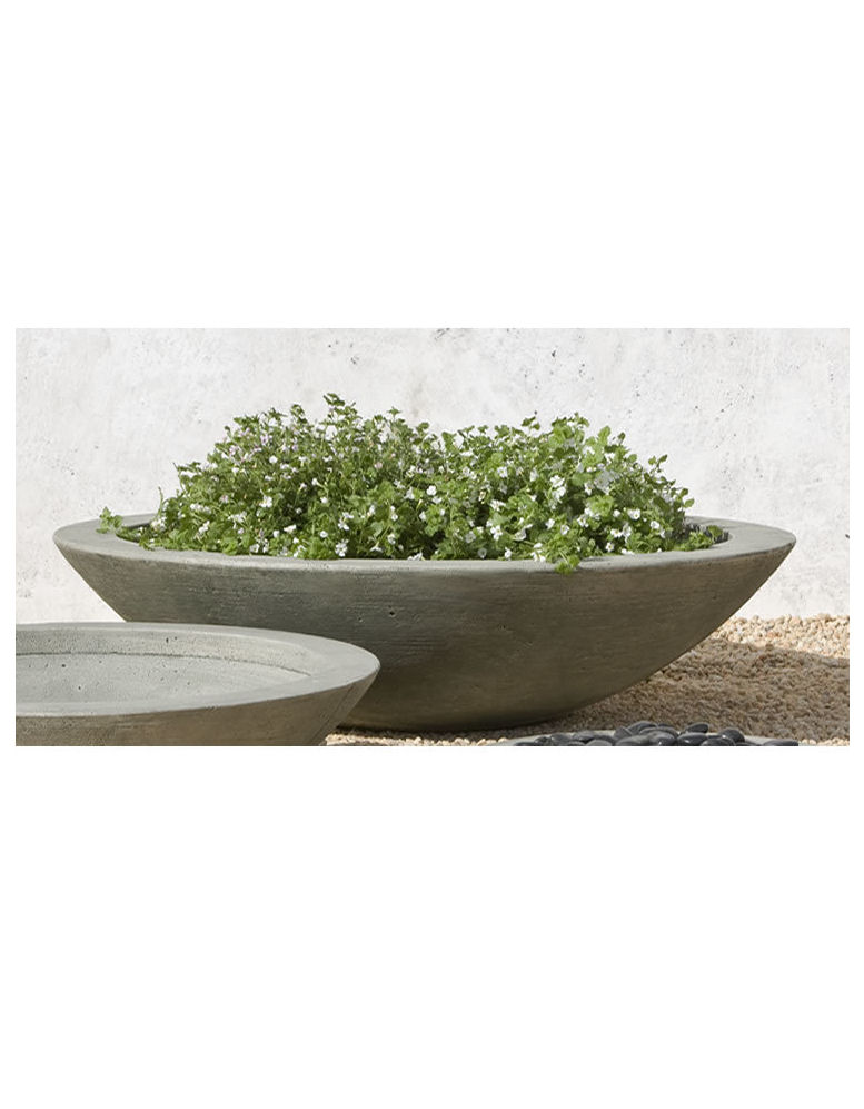 Zen Low Large Shallow Bowl Outdoor Planter Kinsey Garden Decor