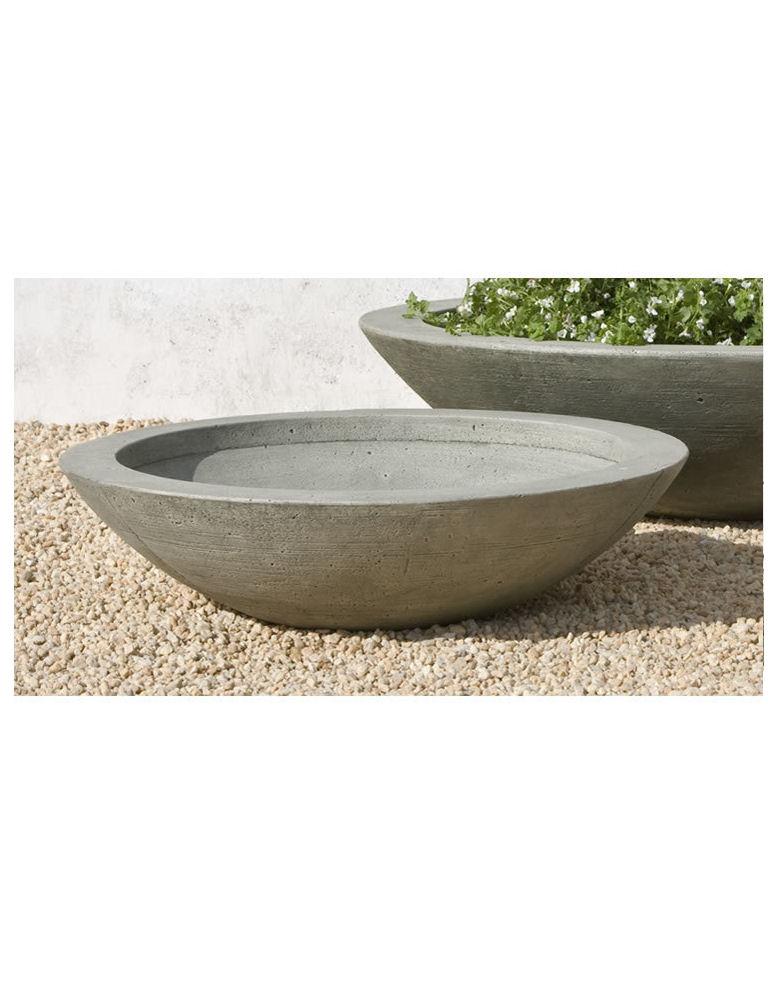 Stone Zen Low Bowl Planters Patio Set Kinsey Garden Decor