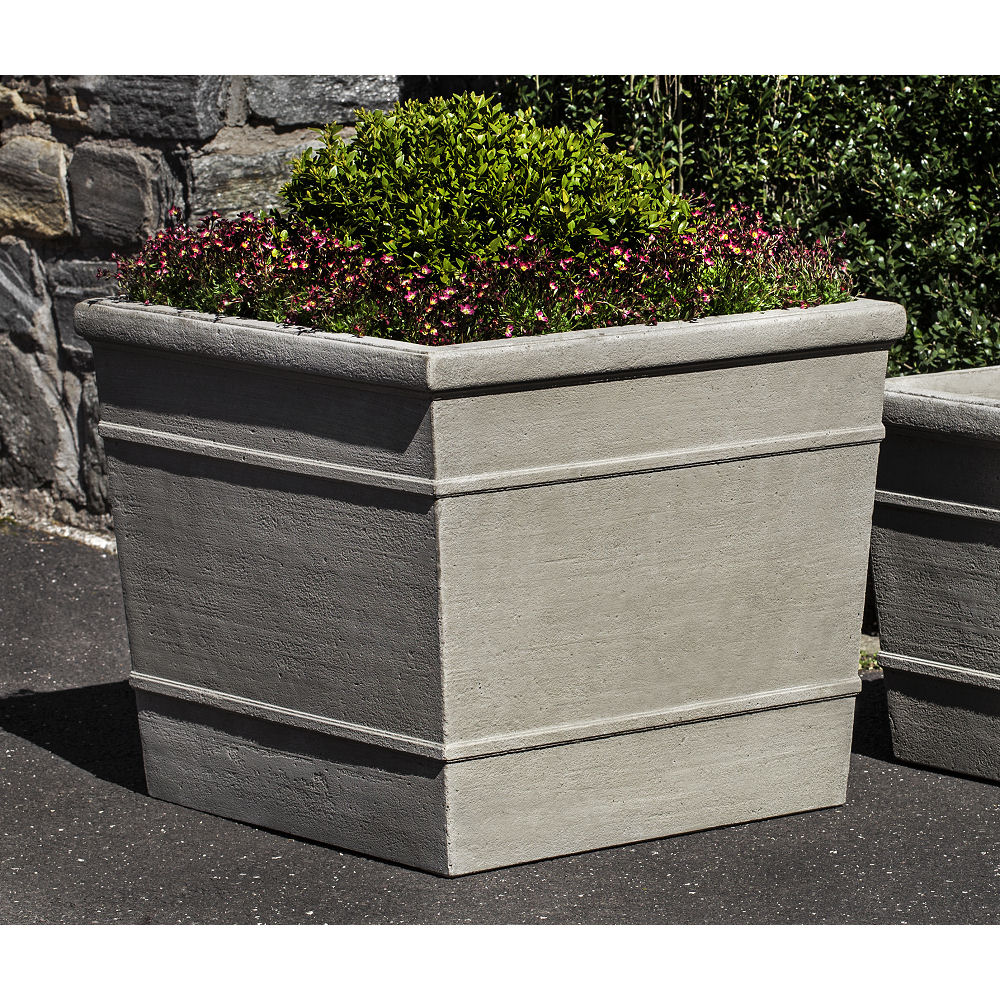 Marin Planter Large Cast Stone Square Kinsey Garden Decor