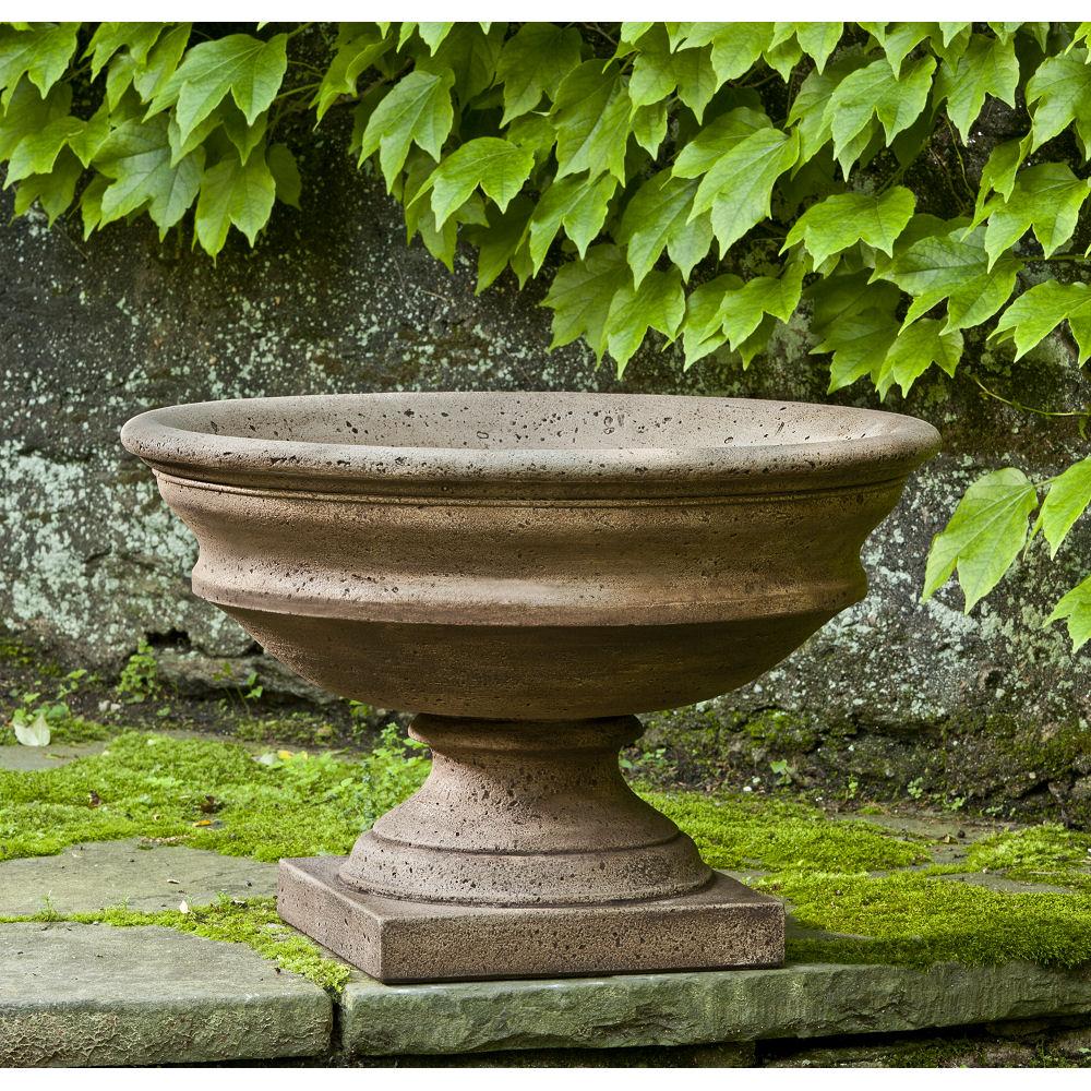 Large Newberry Urn Pedestal Outdoor Planter Kinsey Garden Decor