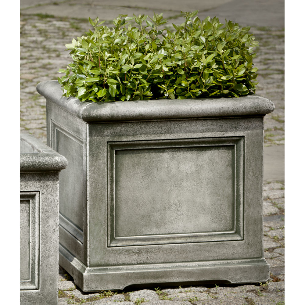 Orleans Planter Large Square Stone Panel Box Kinsey Garden Decor
