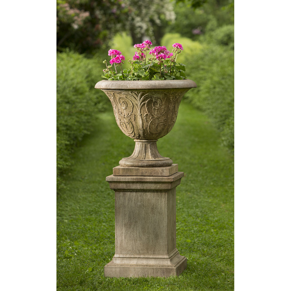 blog atlantis pedestals lg stone cast holes drainage and planters pedestal urn with archiped urns pots bronze