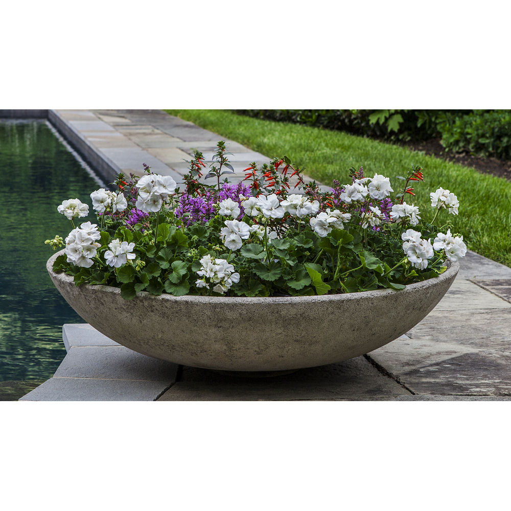 Textured Zen Bowl Extra Large Outdoor Planter Kinsey Garden Decor