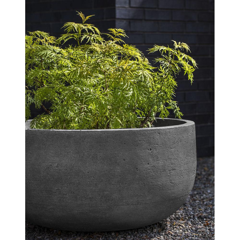 Tribeca Planter Low Modern Bowl Cast Stone Kinsey Garden Decor
