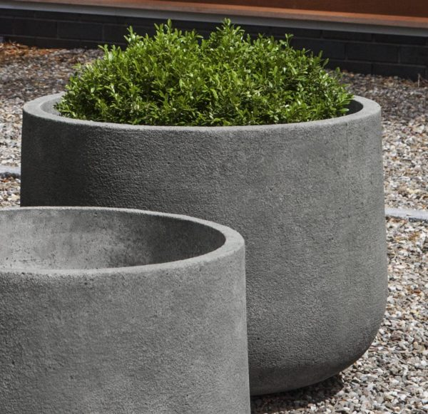 Cast Stone Tribeca Short Bowl Planter Set Kinsey Garden