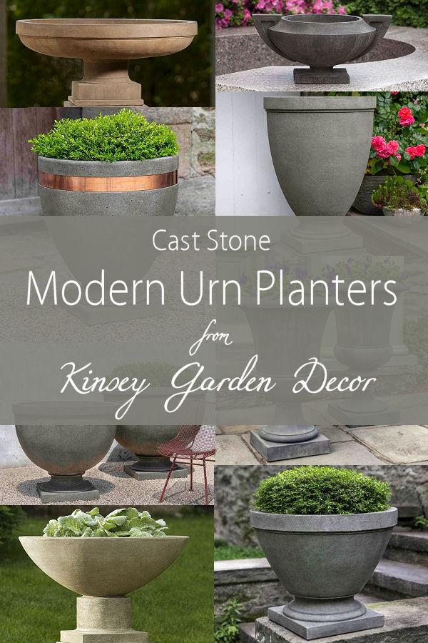 Savoy Planter On Pedestal Modern Outdoor Urn Kinsey