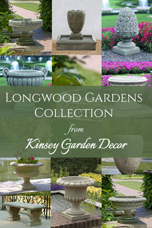 Longwood Fluted Urn Small Cast Stone Planter Kinsey
