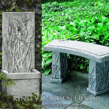 Kinsey Garden Decor Dragonfly patio set