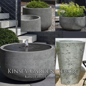 Kinsey Garden Decor Echo Park fountian planter set