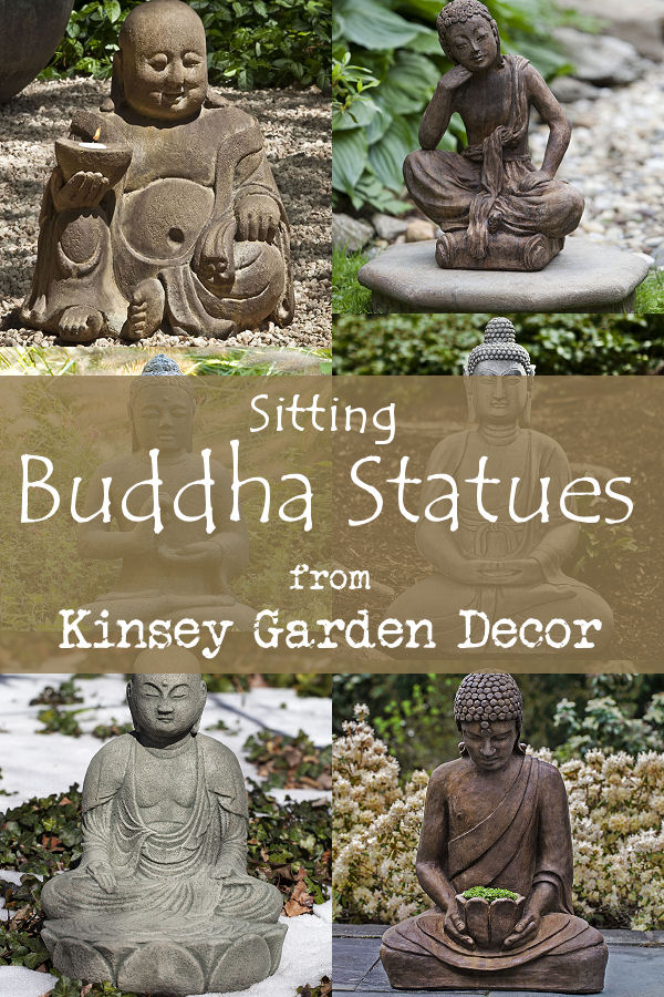 Kinsey Garden Decor Seated Buddha Statues