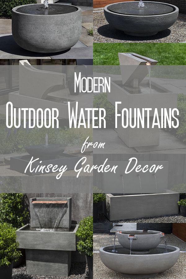 Kinsey Garden Decor Modern Outdoor Water Fountains