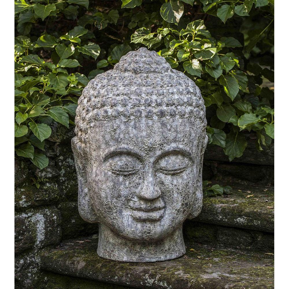 Large Angkor Buddha Head Outdoor Zen Statue Kinsey Garden Decor