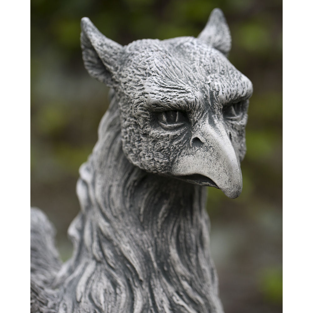 Gryphon Griffin Tall Herald Large Mythological Statue