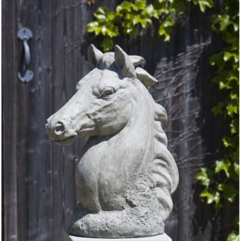Horse Head Champion Large Stone Garden Statue